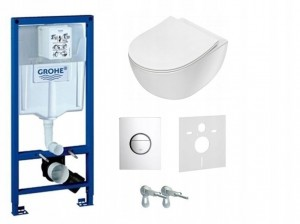 STELAŻ WC PODTYNKOWY GROHE+ misa rimless Deante